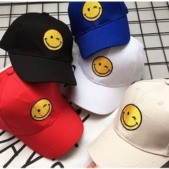 YOOYOO - Kids Smiley Face Embroidered Baseball Cap