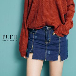 PUFII - Denim Skort