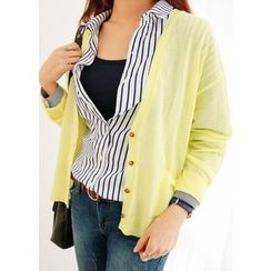 J-ANN - V-Neck Colored Cardigan