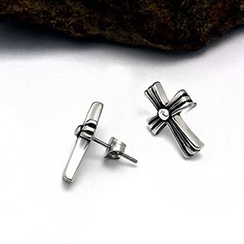 Andante - Cross Single Stud Earring