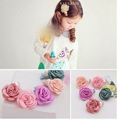 Chapa - Kids Rosette Beaded Hair Clip