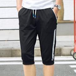 2RZ - Drawstring Paneled Cropped Pants