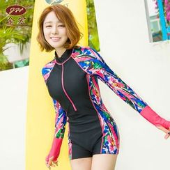 GIZZI - Printed Rashguard Swimsuit