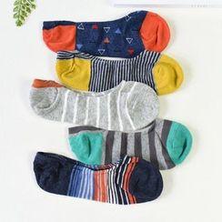 MITU - 彩色低幫淺口防滑隱形船襪