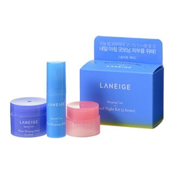 Laneige 蘭芝 - Sleeping Care Good Night Kit: Water Sleeping Mask 15ml + Lip Sleeping Pack 3g + Eye Sleeping Mask 5ml