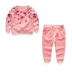 Matatabi - Kids Set: Printed Pullover + Plain Pants