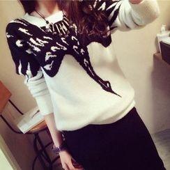 Bubbleknot - Set: Patterned Knit Top + Skirt