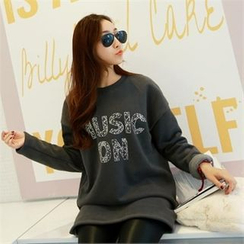 PIPPIN - Lettering Brushed-Fleece Lined Pullover