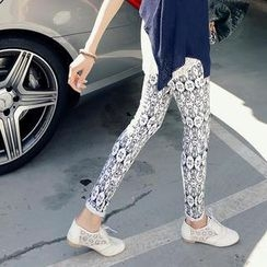 REDOPIN - Slim-Fit Print Pants