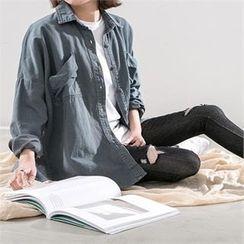 PEPER - Drop-Shoulder Denim Shirt