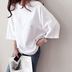 DAILY LOOK - 3/4-Sleeve Drop-Shoulder Top