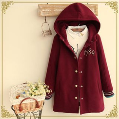 Fairyland - Embroidered Number Hooded Jacket