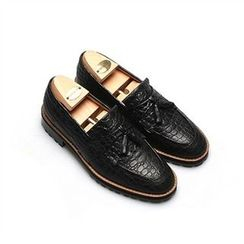 THE COVER - Genuine Leather Tassel Loafers
