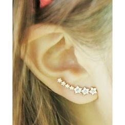 Miss21 Korea - Rhinestone Flower Earring
