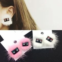 Avery - Pompom Earrings