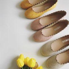 Laceuplux - 波浪边平跟鞋