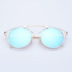 Sunny Eyewear - Mirrored Round Sunglasses
