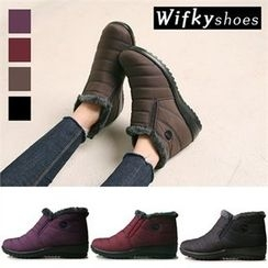 Wifky - Faux-Fur Lined Padded Ankle Boots