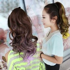 SEVENQ - Gradient Dyed Ponytail - Wavy