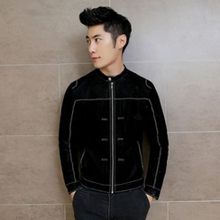 Maluda - Faux-Leather Zip Jacket