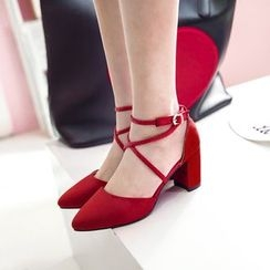 Pristeen - Block Heel Strappy Pumps