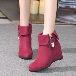 One100 - Zip-Accent Ankle Boots