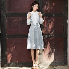 GU ZHI - Plaid Jumper Skirt