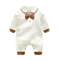 MOM Kiss - Baby Bow Ribbed Long-Sleeve Bodysuit