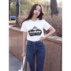 maybe-baby - Round-Neck Printed T-Shirt