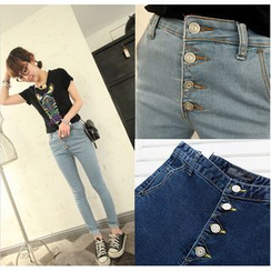 Denim Fever - High Waist Skinny Jeans