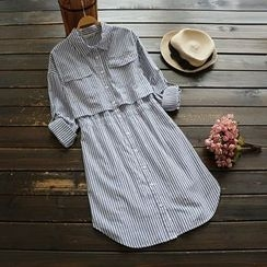 YOYO - Striped Shirtdress