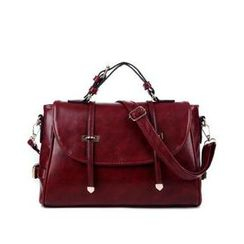 LineShow - Faux Leather Satchel
