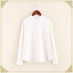 Fairyland - Band Collar Long-Sleeve Shirt