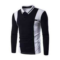 Fireon - Two Tone Long Sleeve Polo Shirt