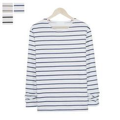 DANGOON - Round-Neck Stripe T-Shirt