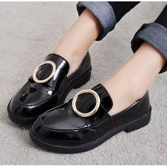 Simply Walk - Metal Buckle Patent Loafers