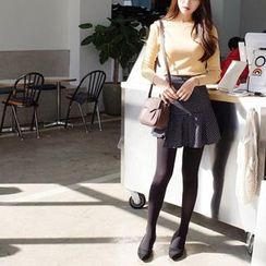 mimi&didi - Asymmetric-Hem Checked Mini Skirt