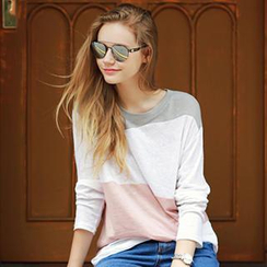 Ranee - Long-Sleeve Color-Block T-Shirt