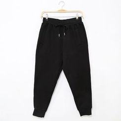 Mr. Cai - Drawstring Fleece-Lined Pants