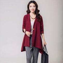 Romantica - Plain Single-Button Coat