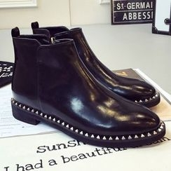 QQ Trend - Pointy Studded Ankle Boots