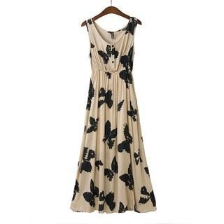 JVL - Sleeveless Butterfly Print Maxi Dress