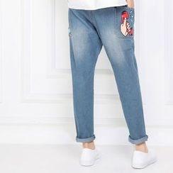 MUKOKO - Printed Straight-Cut Jeans