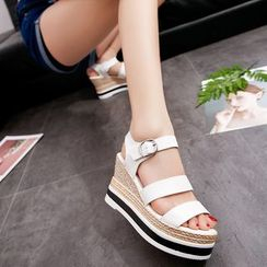Yoflap - Strappy Wedge Sandals