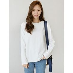 FROMBEGINNING - Round-Neck Long-Sleeve T-Shirt