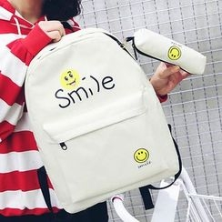 Sweet City - Set: Printed Backpack + Pouch