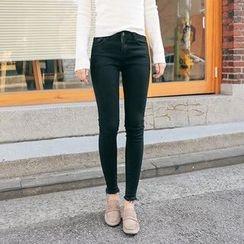 Seoul Fashion - Distressed Skinny Pants