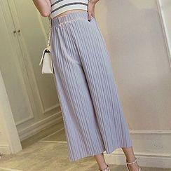 Fashion Street - Pleated Wide Leg Pants