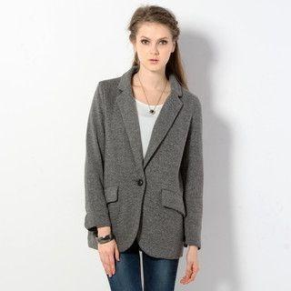 59 Seconds - Single-Button Long Blazer