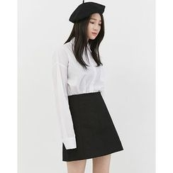 Someday, if - Pocket-Front Oversized Cotton Shirt